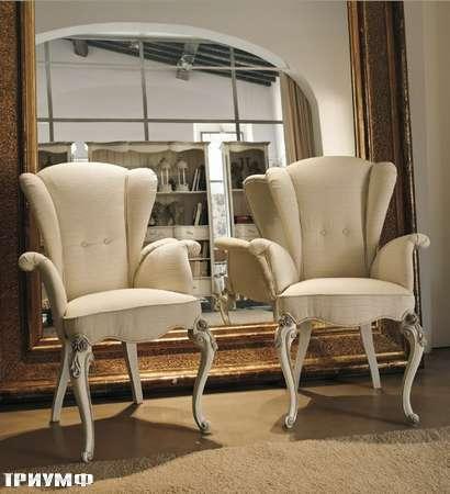 Итальянская мебель Volpi - стулья с подлокотниками Capri