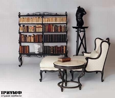 Итальянская мебель Chelini - Кресло с пуфом для зоны отдыха арт.1009, пуф арт.1010