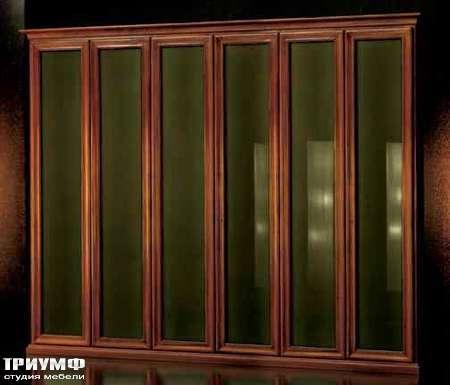 Итальянская мебель Grande Arredo - Шкаф-библиотека с распашными стеклянными дверьми