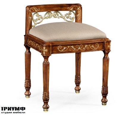 Американская мебель Jonathan Charles - Burl & Mother of Pearl Dressing Stool