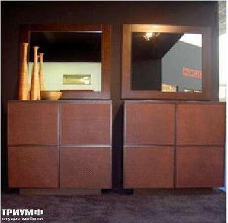 Итальянская мебель Rattan Wood - Шкаф Wiwa, зеркало Ergo