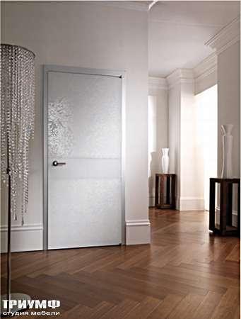 Итальянская мебель Longhi - Дверь распашная Headline, белое стекло