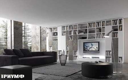 Итальянская мебель Presotto - стенка Layout с вертикальными элементами