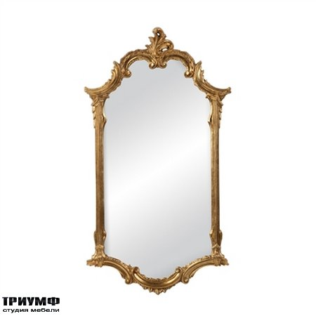 Американская мебель la Barge - Elegant Mirror in Antiqued Gold Metal Leaf Finish