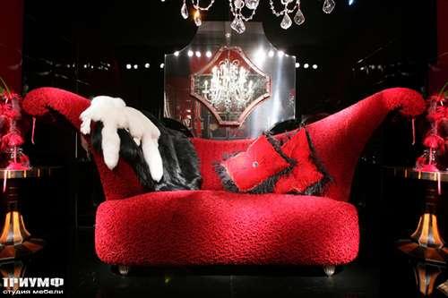 Итальянская мебель Cornelio Cappellini - Красный диван Ventaglio