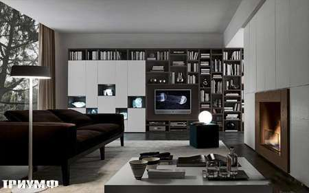 Итальянская мебель Presotto - стенка Layout с нишами