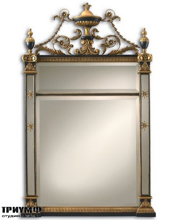 Американская мебель la Barge - Empire Mirror with Burnished Gold and Black