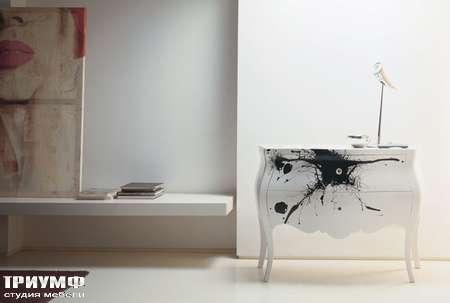 Итальянская мебель Moda by Mode - Комод Concept с 2 ящиками в глянцевом лаке
