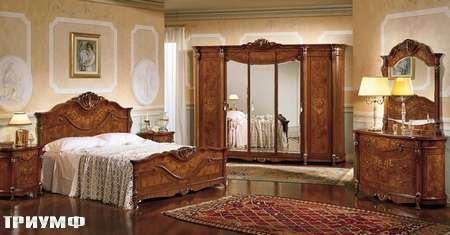 Итальянская мебель Grilli - кровать с прикроватными тумбами и комодом