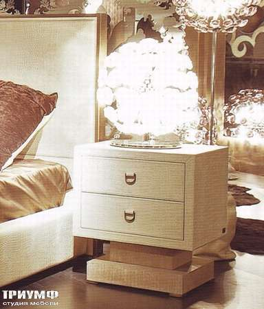 Итальянская мебель Rugiano - Тумба прикроватная Parigi с 2 ящиками