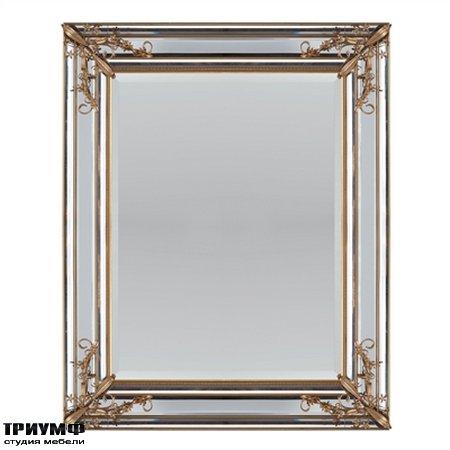 Американская мебель la Barge - Rectangular Mirror Accented by Gold Floral Decor