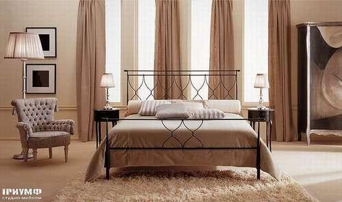 Итальянская мебель Giusti Portos - Кованая черная кровать Bolero