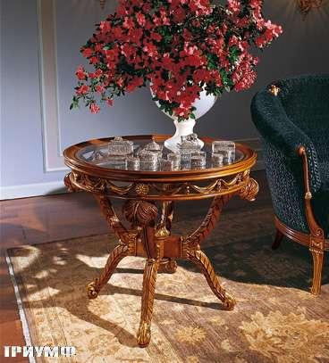 Итальянская мебель Colombo Mobili - Столик арт.292 кол. Moscagni вишня стеклянный топ