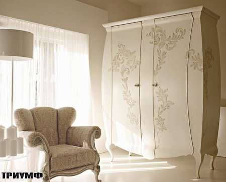 Итальянская мебель Volpi - шкаф Serena с росписью