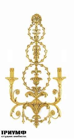 Итальянская мебель Chelini - Бра с 2 лампами арт. 1042