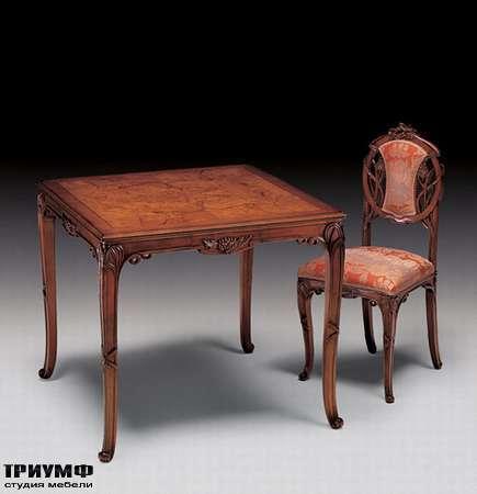 Итальянская мебель Medea - Стол квадратный с радикой, арт. 19