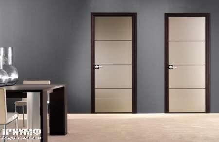 Итальянская мебель Longhi - Дверь распашная Spark, венги-зеркало