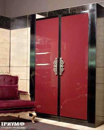 Итальянская мебель Grande Arredo - Шкаф Odisseo черный лак, стекло