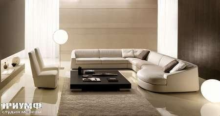 Итальянская мебель CTS Salotti - Диван угловой с закгругленным элементом, модель Club