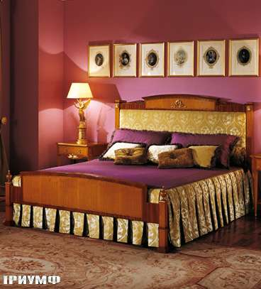 Итальянская мебель Colombo Mobili - Кровать арт.191.2 кол.Donizetti в имперском стиле