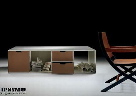 Итальянская мебель Flexform - bookshelves containers infinity
