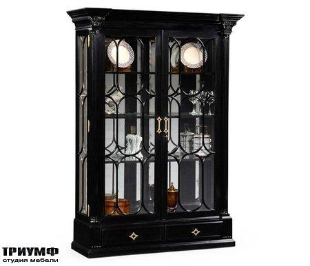 Американская мебель Jonathan Charles - Corinthian Column Black Display Cabinet