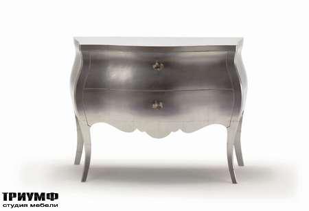 Итальянская мебель Moda by Mode - Комод Concept с ящиками в серебре