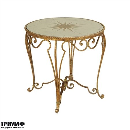 Американская мебель la Barge - Antique French Gold Finished Iron Center Table