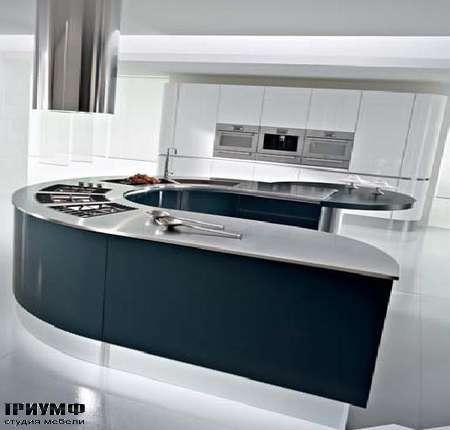 Кухня Arktica остров закругленный, композиция