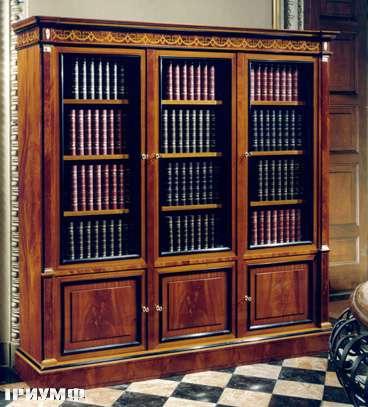 Итальянская мебель Colombo Mobili - Книжный шкаф в имперском стиле арт.148 кол. Scarlatti