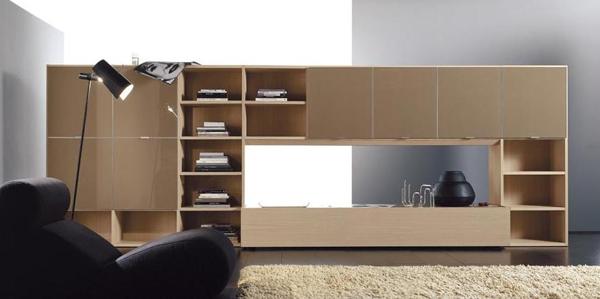 Итальянская мебель Olivieri - Стенка в светлом дубе Surprise двухстороняя