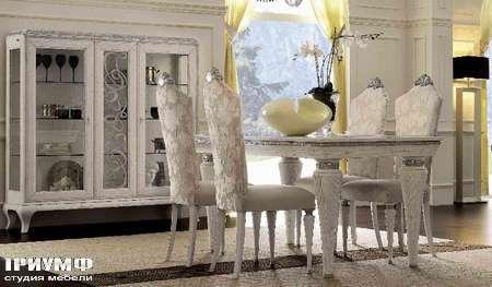Итальянская мебель Giorgio Casa - Casa Bella витрина , стол и стулья