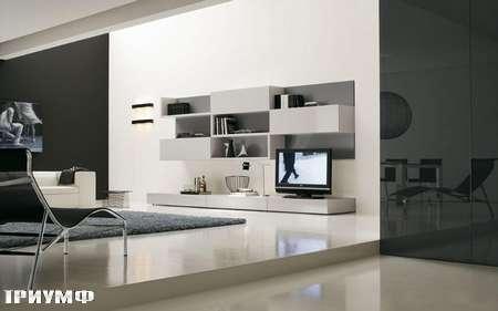 Итальянская мебель Presotto - стенка Oasis в глянцевом лаке