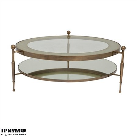 Американская мебель la Barge - French Bronze Finished Round Cocktail Table