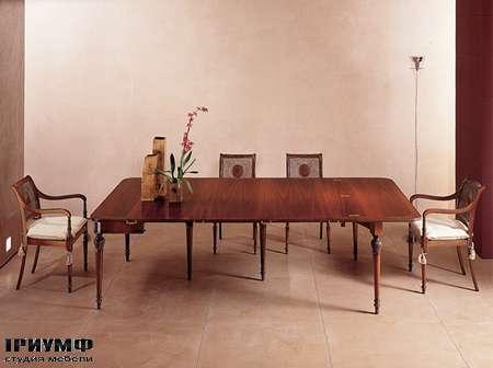 Итальянская мебель Medea - Стол большой  квадратный из массива дерева, арт. 412