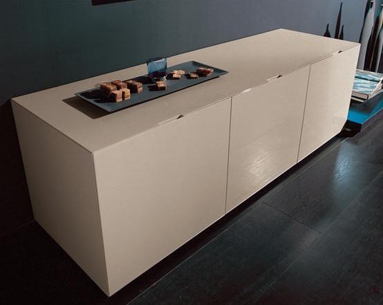 Итальянская мебель Olivieri - Комод Cube с 3 распашными дверцами, в лаке