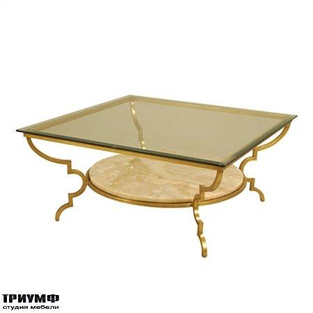 Американская мебель la Barge - Gilded Iron Cocktail Table