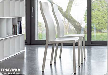 Итальянская мебель Bonaldo - стул Milena в коже