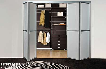 Итальянская мебель Longhi - Дверь-гармошка для гардеробной Wind