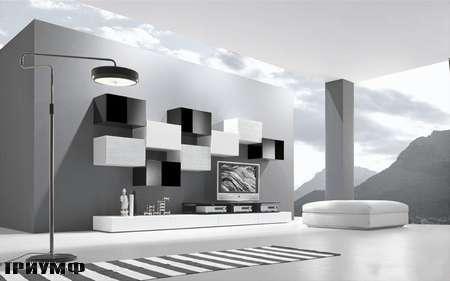 Итальянская мебель Presotto - стенка modulart с шашечным рисунком