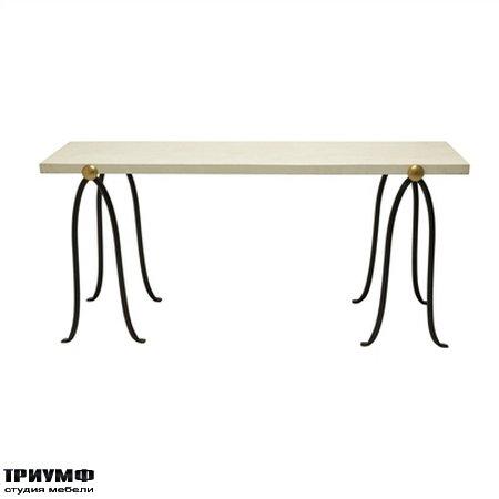 Американская мебель la Barge - Iron Sawhorse Console Table