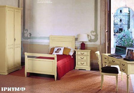 Итальянская мебель Tonin casa - кровать цвета слоновая кость