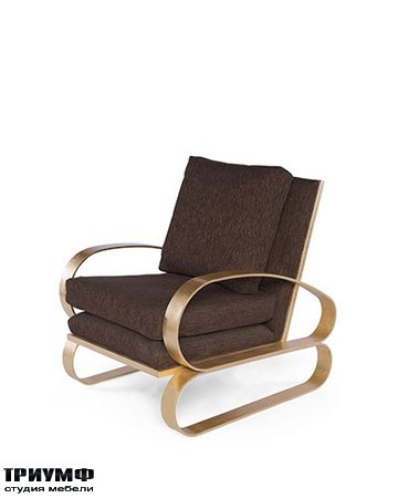 Американская мебель Badgley Mischka - Monterey Lounge Chair II (Gold)