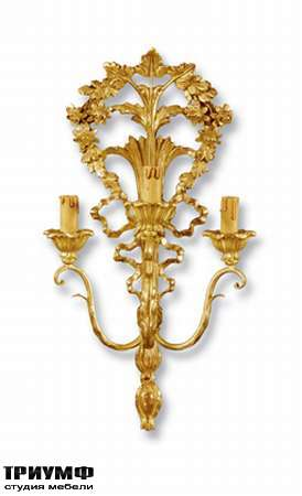 Итальянская мебель Chelini - Бра 3 светильника, золото