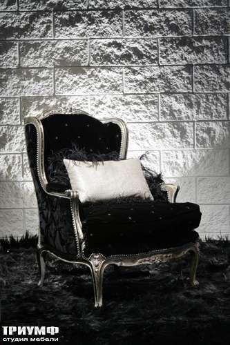 Итальянская мебель Cornelio Cappellini - Полукресло черное, с серебряным основанием