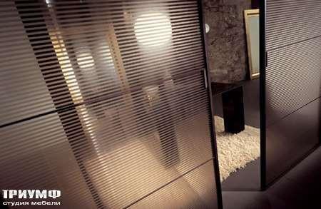 Итальянская мебель Longhi - Раздвижная перегородка Spark с дымчатым стеклом