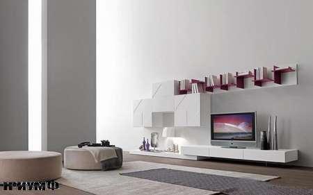 Итальянская мебель Presotto - стенка с 3D дверцами