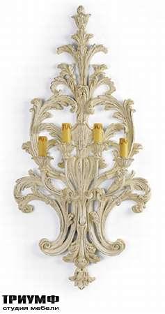 Итальянская мебель Chelini - Бра с 4 светильника, крашенное дерево арт.825