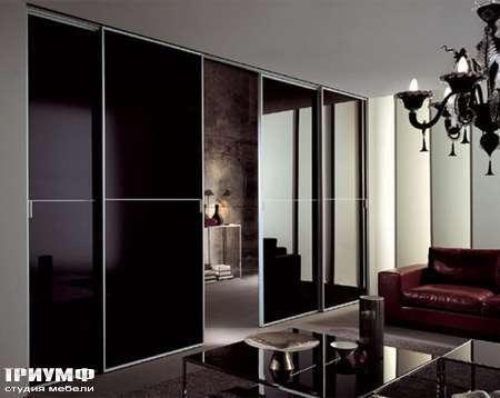 Итальянская мебель Longhi - Раздвижная перегородка Spark в лаковом стекле