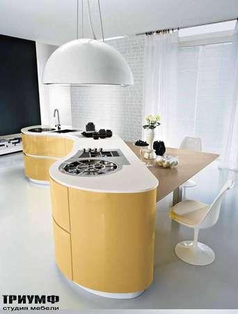 Итальянские кухни Pedini - Кухня Dune композиция в желтом цвете